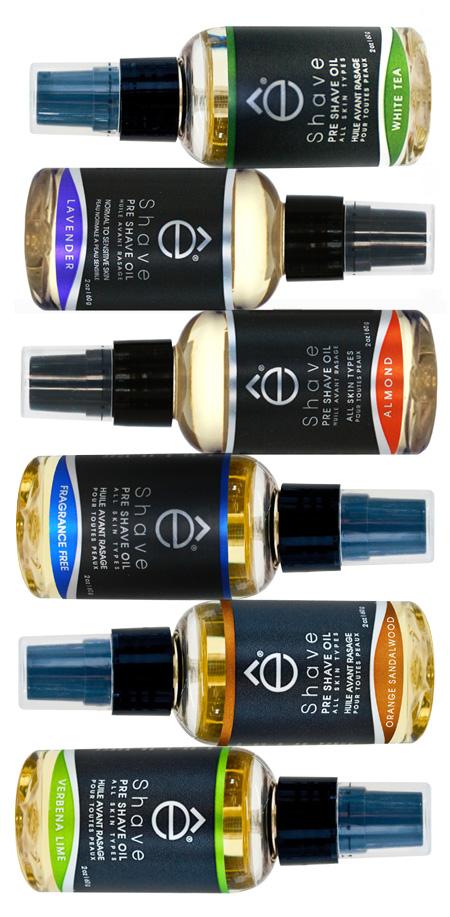 eShave pre-shave oils