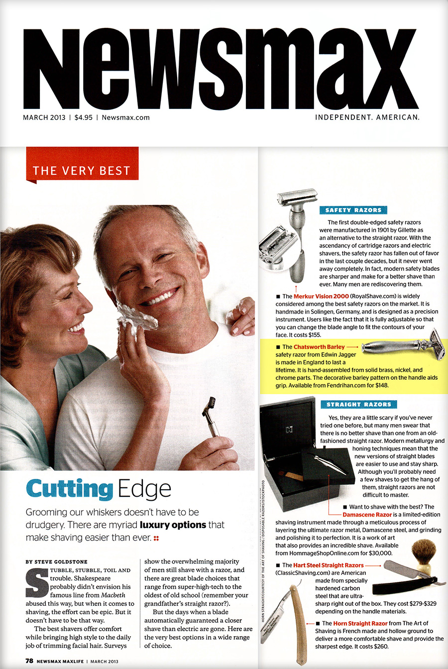 ... Best Men's Shavers Featured in NewsMax Magazine | FENDRIHAN the blog