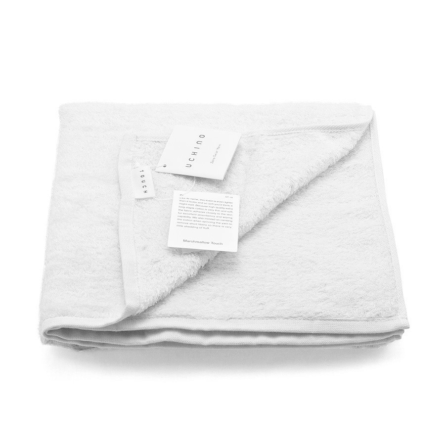 Uchino Marshmallow Plus Soft Touch White Cotton Hand Towel - $35 - Fendrihan.com