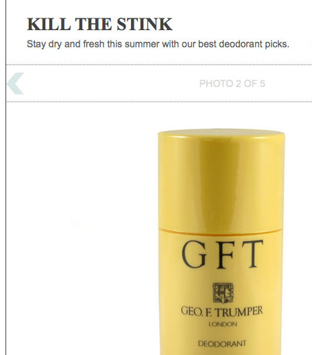 GFT picked as top deodorant by SHARP Magazine