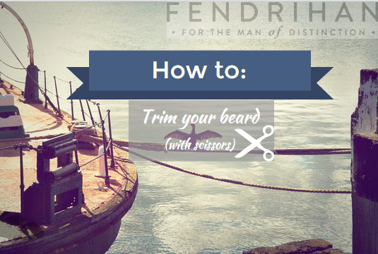 Scissors skills you need to trim your beard
