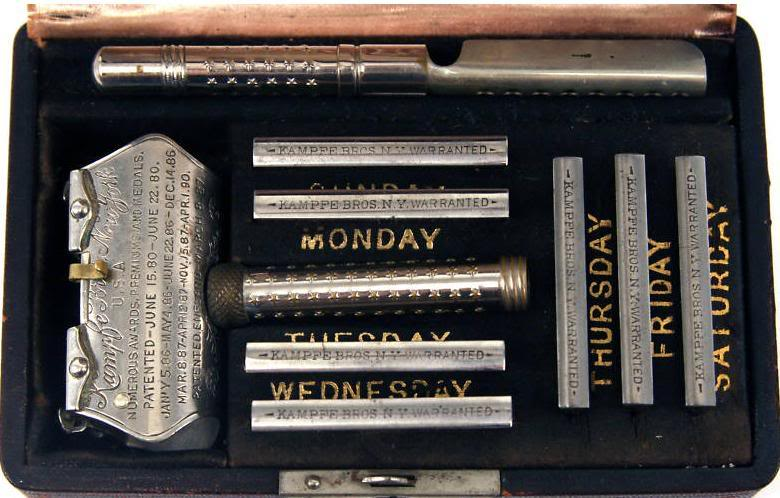 The Kampfe Brothers' first safety razor model