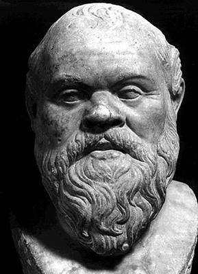 Socrates sports a fashionable Greek beard