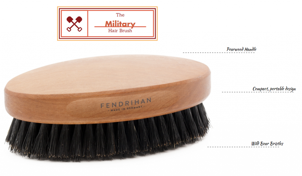 The Military Hair Brush for Men
